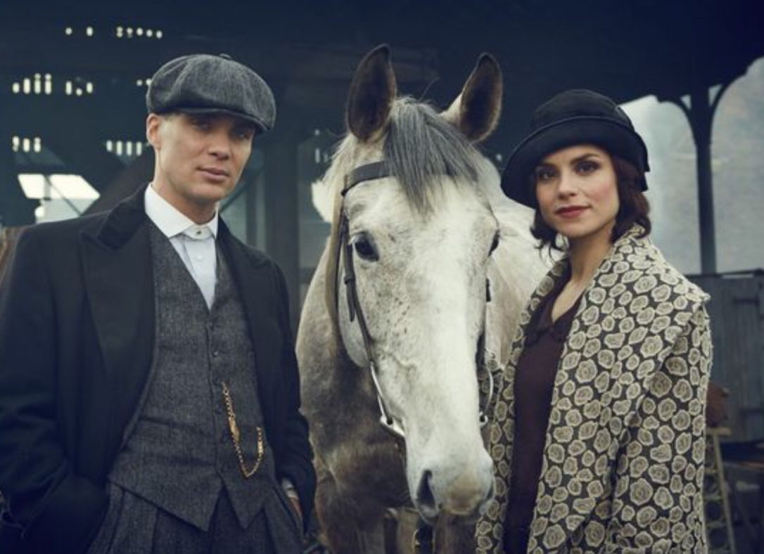 Thomas Shelby and his racehorse