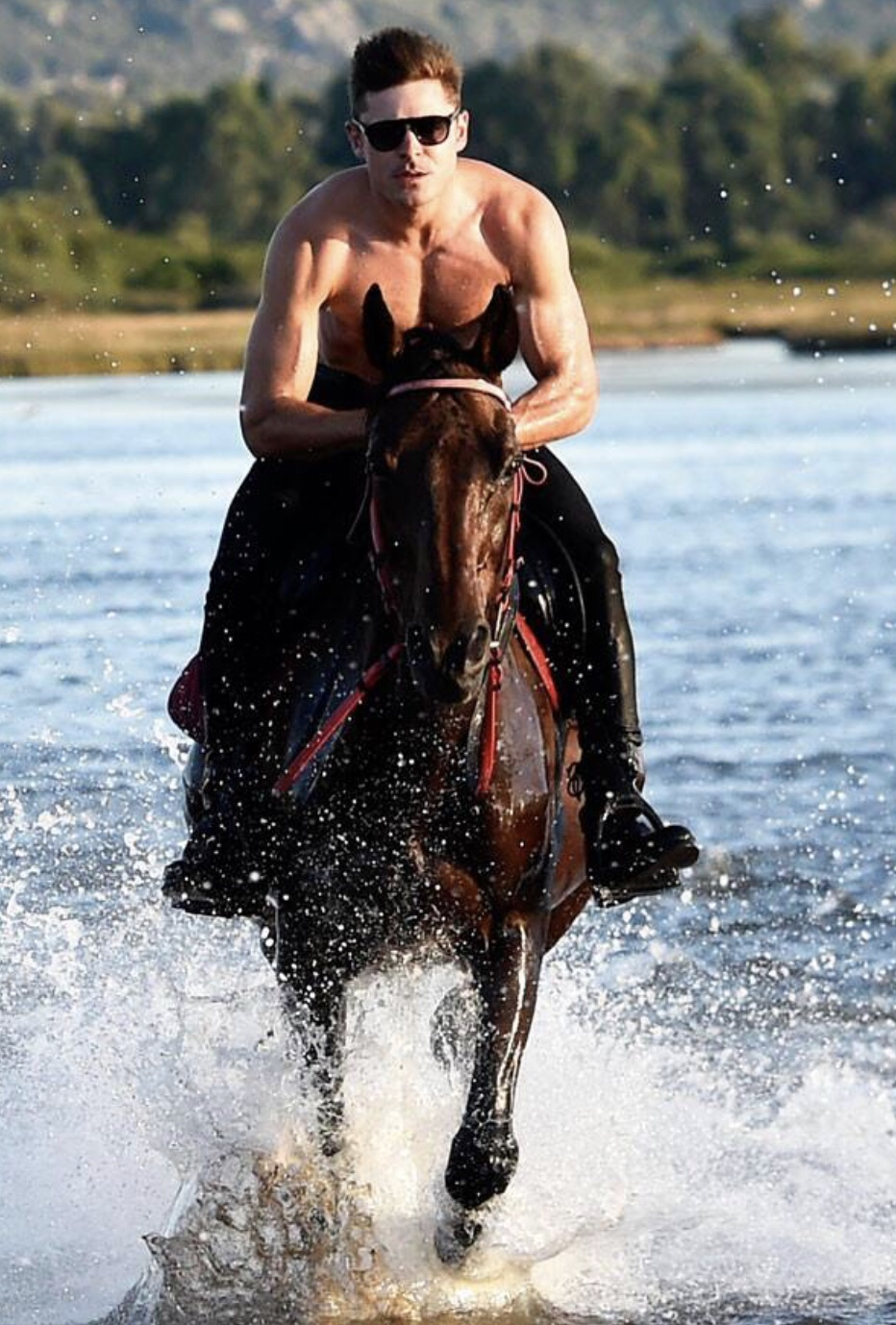 Zac Efron Horse riding