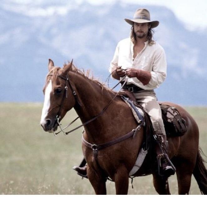Brad Pitt horse riding