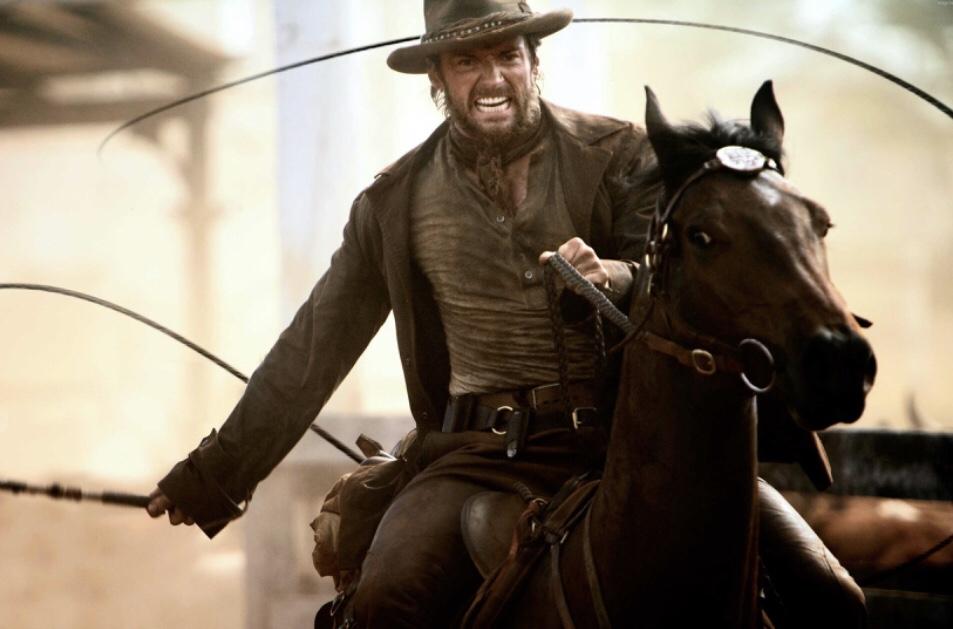 Hugh Jackman horse riding