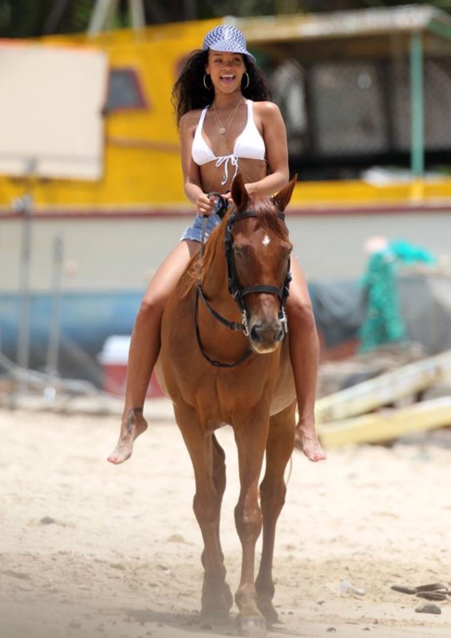 Rihanna Horse riding