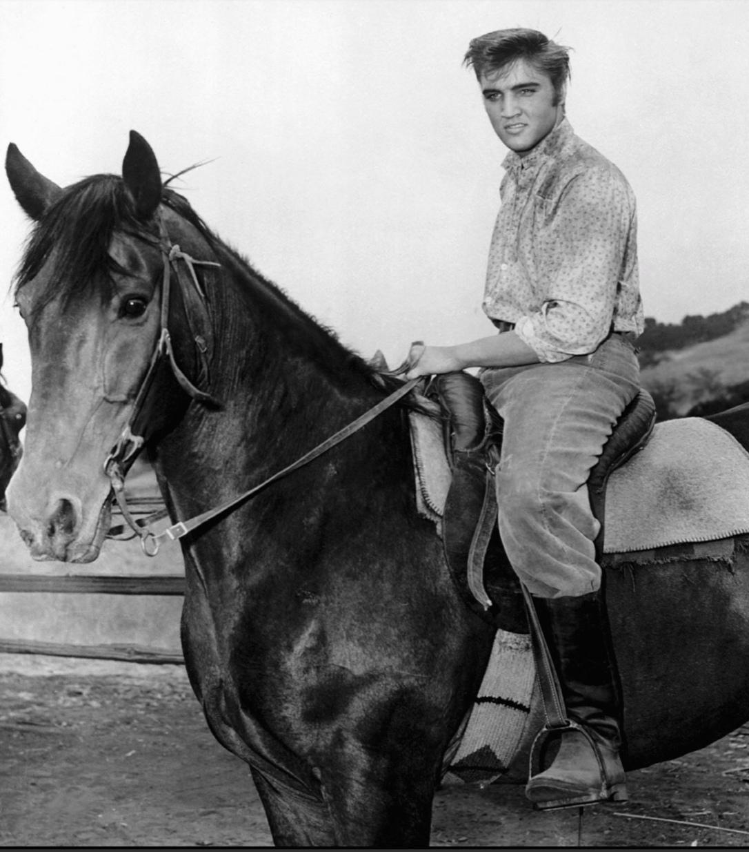 Elvis horse riding